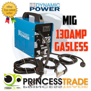 130Amp-MIG-Gasless-Welder-Welding-Machine-Tool-10Amp-Plug-DYNAMIC-POWER