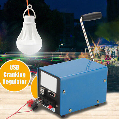 Usb Hand Shake Crank Power Generator Emergency Phone Charger Camping New