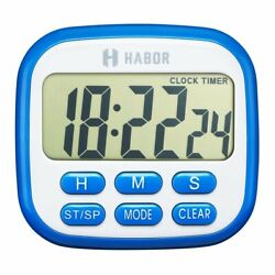Magnetic Digital Kitchen Timer Large LCD Cooking Count Down Up Loud Alarm Clock