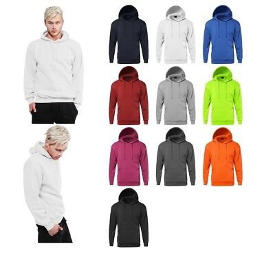 FashionOutfit Men's Solid Casual Basic Sporty Pullover Fleece Hooded Sweatshirt - Mens Sporty Pullover