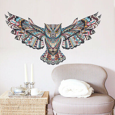Large Owl Wall Decal Wall Sticker Mural Decor Removable Art for Kids Living (Art For Kids Mural)