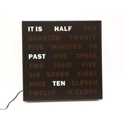Modern LED Word Wall Clock *Displays Time As Text* Unique Decor