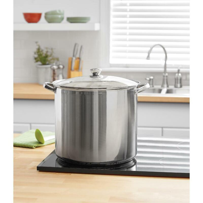 Stainless with Lid 12, 16 Quart