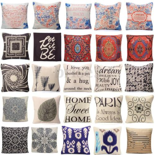 Various Styles Cotton Linen Throw Pillow Cases Cushion Cover Car Seat Home  Decor: USD:2.01
