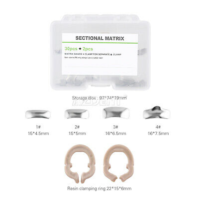 Dental Sectional Contoured Metal Matrices Matrix Bands Ring Refill Autoclavable