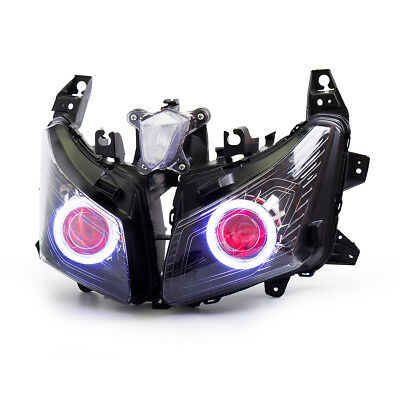 KT LED  Headlight Assembly for Yamaha TMAX 530 2012 2013 2014 Red