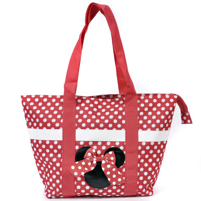Disney Minnie Mouse Icon Polka Dot Travel Beach Tote Vacation Kids ...