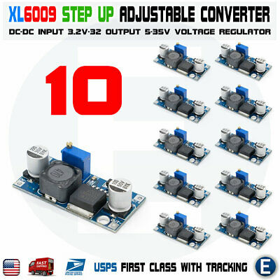 10pcs Xl6009 Boost Buck Module Dc-dc Adjustable Step Up Down Voltage Converter
