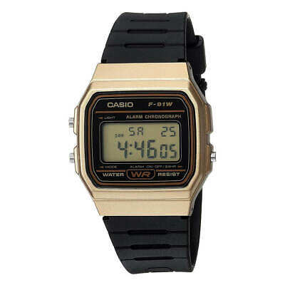 Casio Men's Watch Data Bank Alarm Chronograph Digital Dial Strap F91WM-9A
