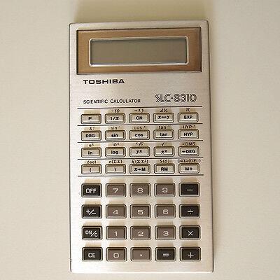TOSHIBA SLC-8310 vintage scientific calculator 1980's Taschenrechner LCD 1980s