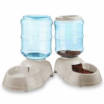 Zone Tech Self Dispensing Pet Dog Cat Food Feeder And Waterer Dispenser - Feeder Waterer