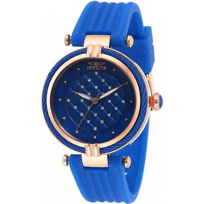 Invicta Women's Watch Bolt Crystal Blue Dial Polyurethane Strap 28953
