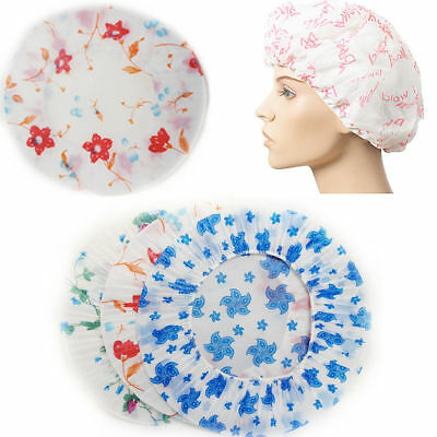 3 x Shower Cap Bath Shower Reusable Clear Plastic Hair Cover Spa Salon Care Fast