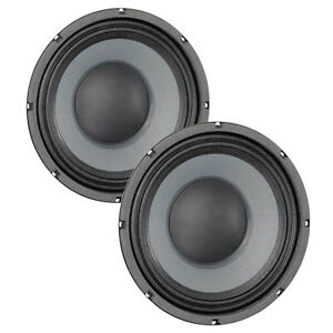 Pair Eminence Delta-10A 10 inch Midrange Midbass Replacement Speaker 8 ohm 700 W
