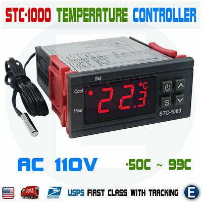 Stc-1000 110v Digital Temperature Controller Thermostat With Sensor Ac Universal