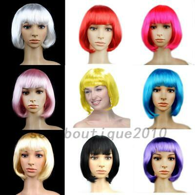 Styling Synthetic Wigs Halloween (Synthetic Full Wig Full Head Bobo Style Fun Wig Halloween Party Wigs Cosplay)