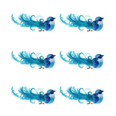Türkis-hochzeit Dekorationen (6 Deko-Vögel mit Clip türkis Hochzeit Weihnachten Dekoration Vogel)