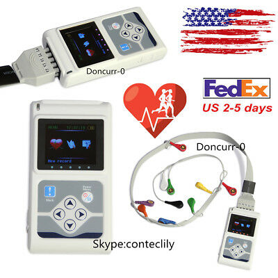 12-channel Ecg Holter Record Monitor 24hrs Measure Software Analysis Monitor