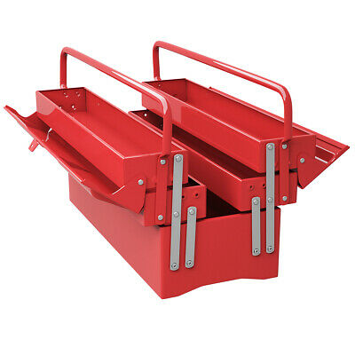 20 5 Trays Mechanic Garage Steel Cantilever Tool Box Chest Storage Portable Red