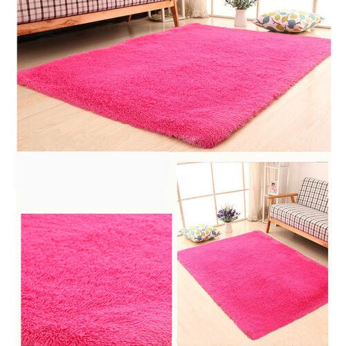 fluffy anti slip shaggy area rug living room bedroom