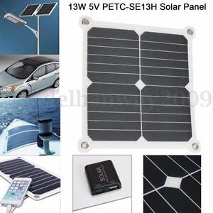 13W-5V-Semi-Flexible-Mono-Solar-Panel-Dual-USB-Battery-Charger-For-Camping-Phone