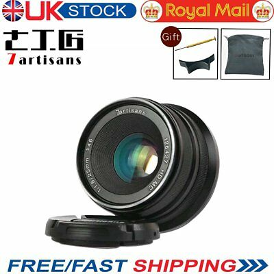 UK 7artisans 25mm F1.8 Manual Focus Lens For Sony E mount NEX APS-C A6500 A6300