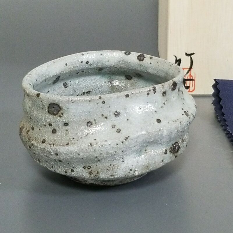 彩11)Japanese Pottery Hagi ware Sake bottle