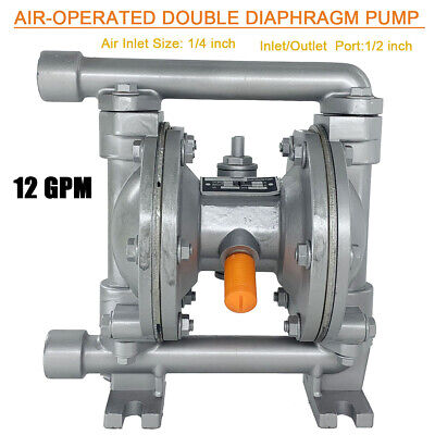 Air-operated Double Diaphragm Pump For Waste Oil Water Industrial Qbk-15z 12gpm