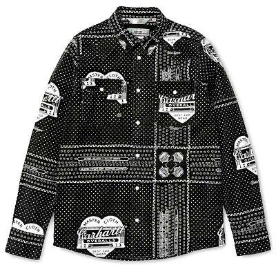 Shirt Carhartt Wip X Slam Jam Sj Heritage Bandana L/S Kansas Shirt Black S