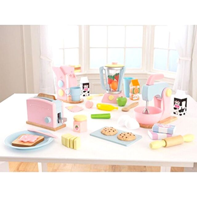 kidkraft pastel play kitchen accessories 4pk | ebay