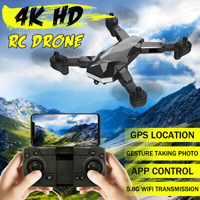 5.8G 4K  Wifi HD Camera Folding RC Drone FPV Quadcopter Taking Photo Gesture GPS