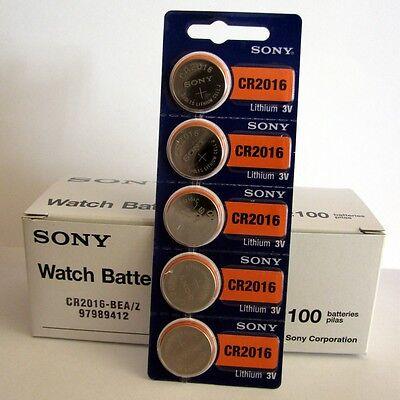 5 NEW SONY CR2016 3V Lithium Coin Battery Expire 2027 FRESHLY NEW - USA Seller