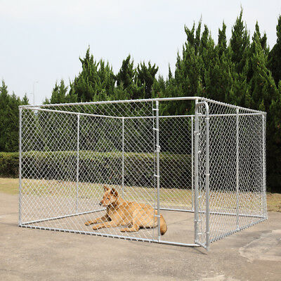 "72""H Dog Chain Link Fence Outdoor Run Kennel Extra Dogs Exercise Pet Pen"