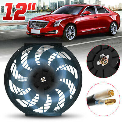 12'' 80W UNIVERSAL ELECTRIC PUSH PULL CURVED BLADE RADIATOR FAN & FITTING KIT