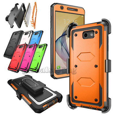 Rugged Heavy Duty Hybrid Phone Cover w Belt Holster Clip Case For Samsung Galaxy