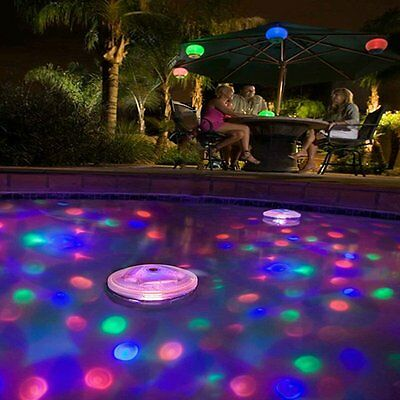 Floating Underwater RGB LED Pool Disco Light Glow Show Swimming Tub Spa Lamp New (Floating Lights)