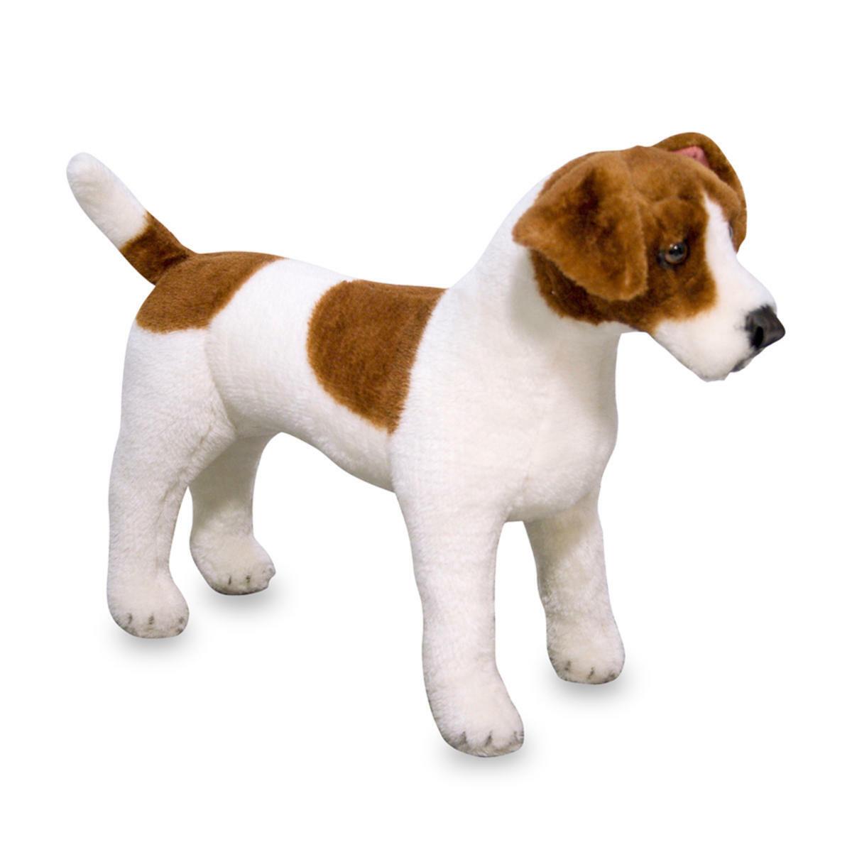 Jack Russell Terrier Plüschtier Kuscheltier Hund stehend Stofftier 32 x 48 cm
