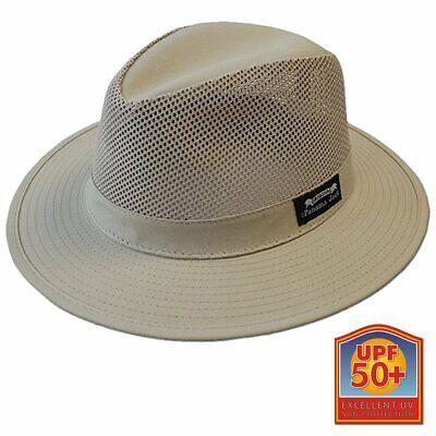 Panama Jack Original Men's Mesh Safari Hat in Khaki - Choice of Size