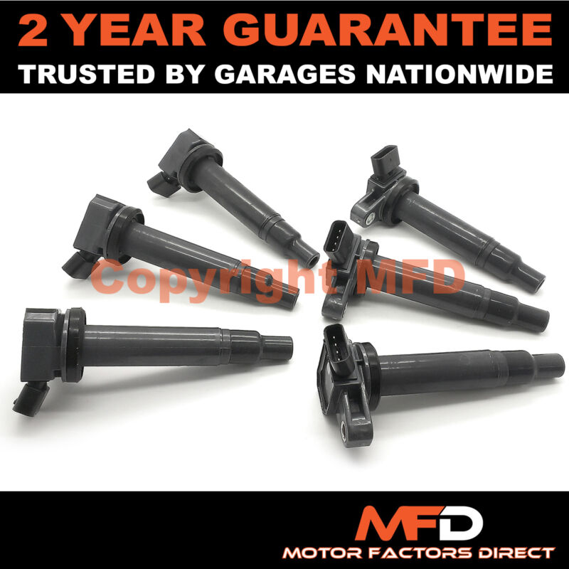 6X FOR LEXUS IS200 2.0 PETROL (1999-05) IGNITION COIL PACKS PACK PENCIL FULL SET