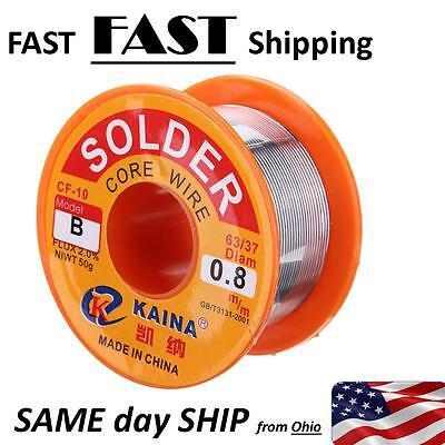 0.8mm 6337 50g Rosin Core Solder Tin Lead Flux Soldering Welding Iron Wire