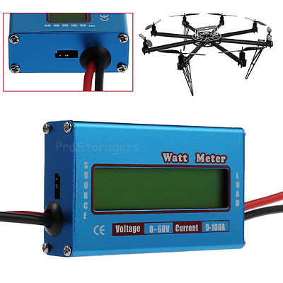 Lcd Digital Watt Meter Dc Rc Volt Battery Analyzer Balance 60v 100a Ammeter Amp