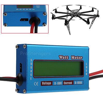 Digital LCD Watt Meter Battery Balance 60V 100A DC RC Volt Ammeter Amp Analyzer