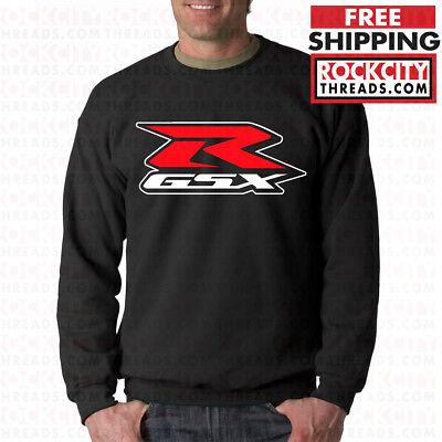 Buy and sell SUZUKI GSX-R BLACK CREW NECK GSXR Sweatshirt GSX Motorcycle R Moto Sport products