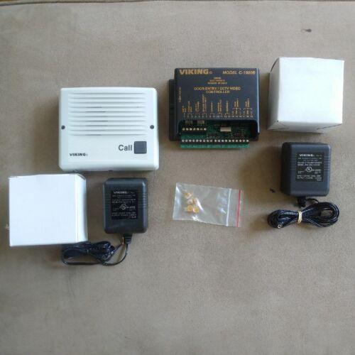 Qty Viking W2000-EWP (SWR) Handfree Doorbox & C1000B DoorEntry/CCTV Contr w/PWR