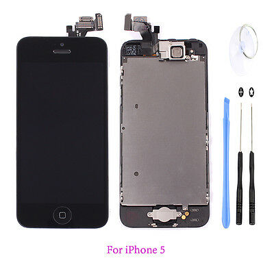 Black LCD Display Touch Digitizer Screen Full Assembly Replacement for iPhone 5  on Rummage