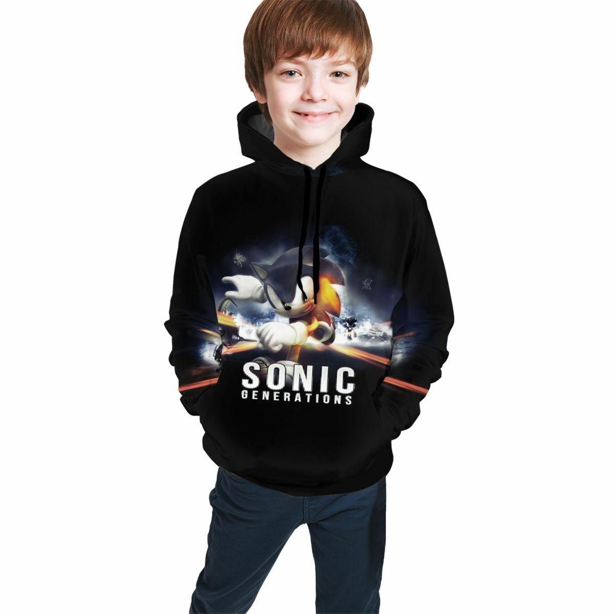 Sonic the Hedgehog Anime Art Print Boys Teens Pullover Hoodies Sweatshirt Gift
