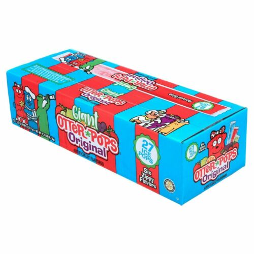 Otter Pops Fast Freeze Ice Bars 5.5 Oz 6 Flavors King Size Pack of 27 Packable