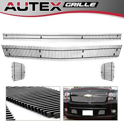 For 2007-2014 Chevy Tahoe/Suburban/Avalanche Vertical Billet Grille Grill Combo