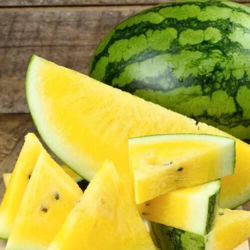 Yellow Crimson Watermelon Seeds | Organic Fruit Tropical Water Melon Plant 2021