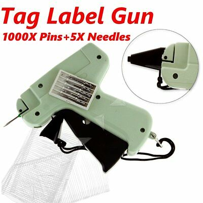 Tagging Gun 5 Steel Needle 1000 Kimble Tag Label System Barbs For Clothes
